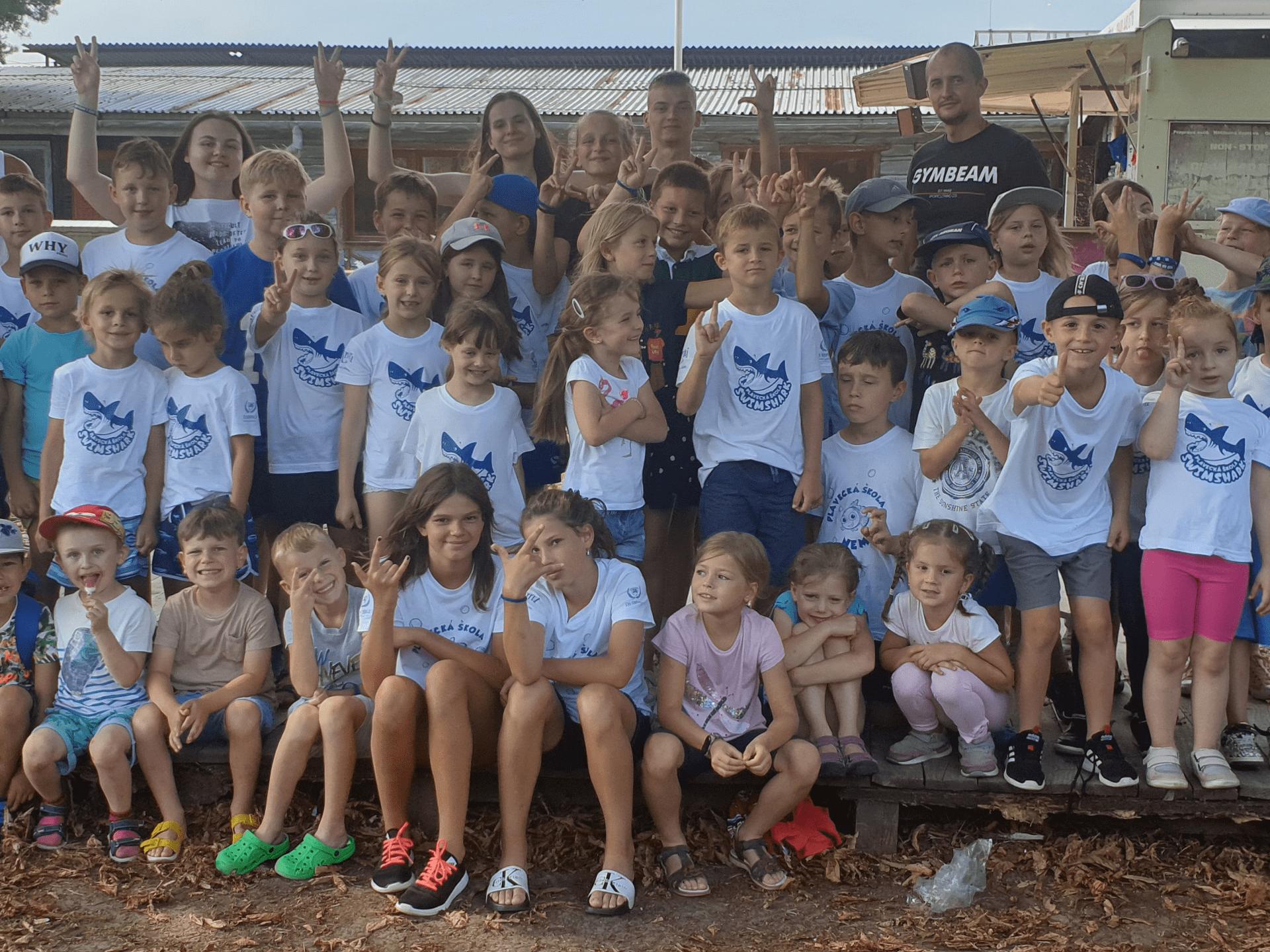 Letný tábor v Prešove pre deti. Plavecká škola Swimshark Prešov